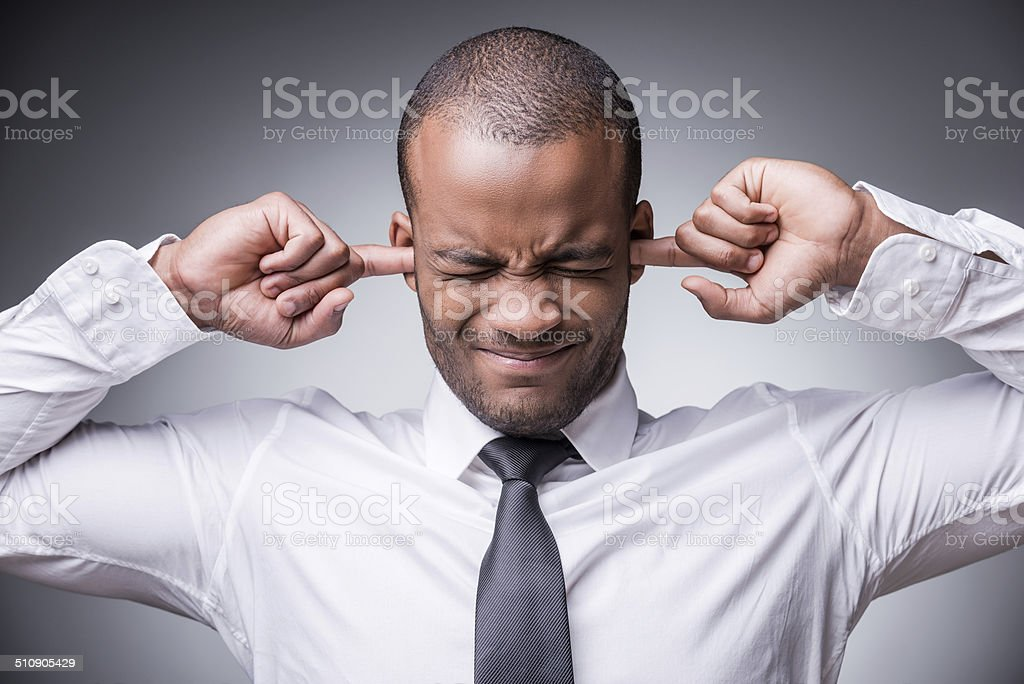 Too loud sound. stock photo
