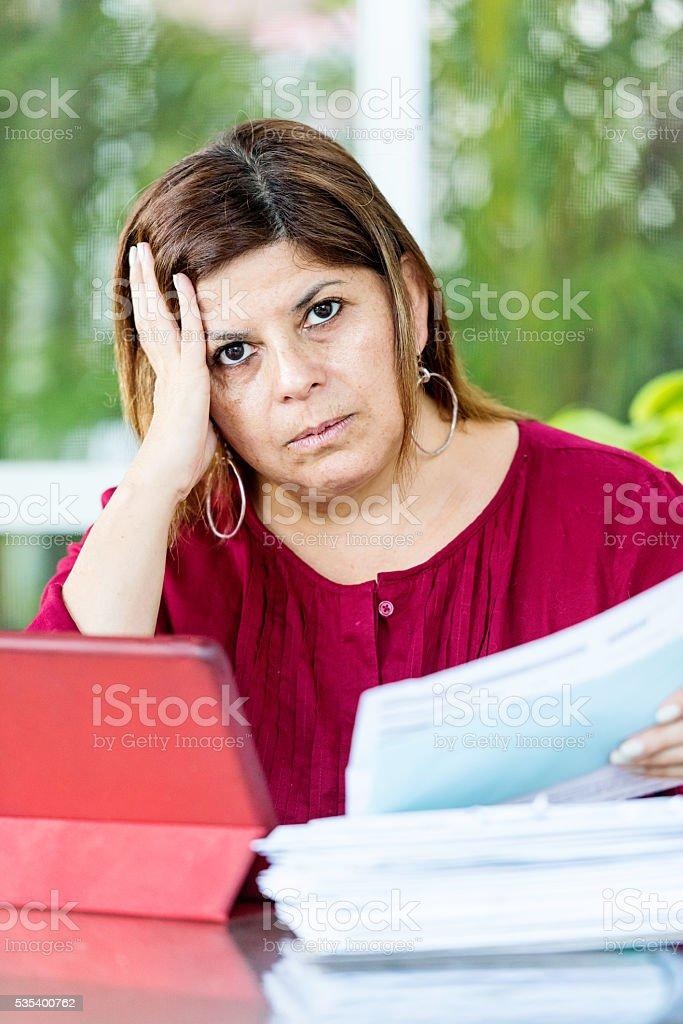 Too many bills stock photo