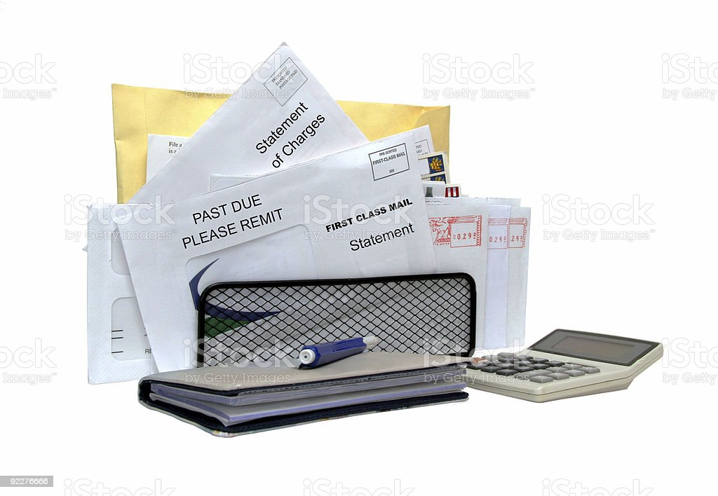 Too many bills! stock photo