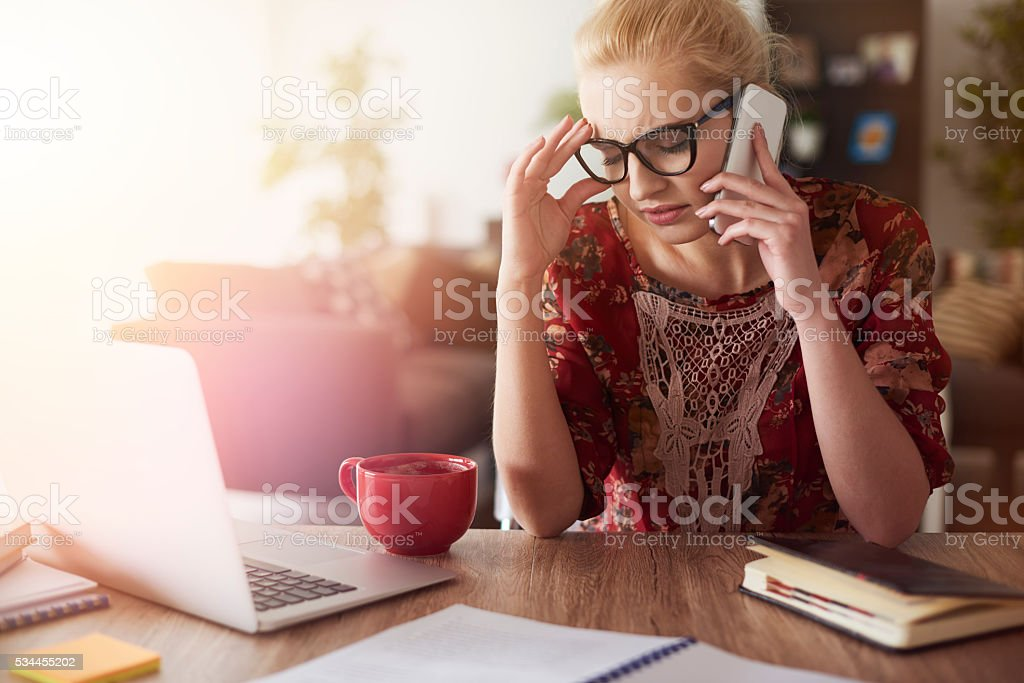 Too many calls in one day stock photo