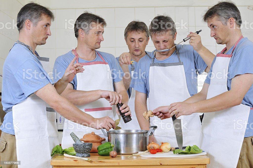 Too many cooks stock photo