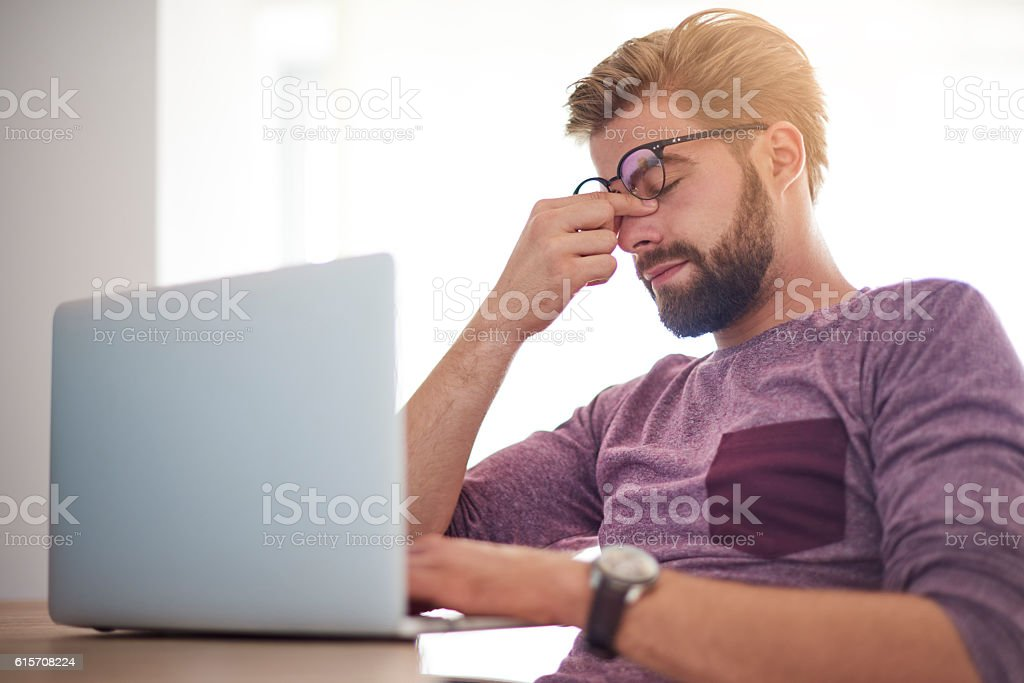 Too many duties for one person stock photo