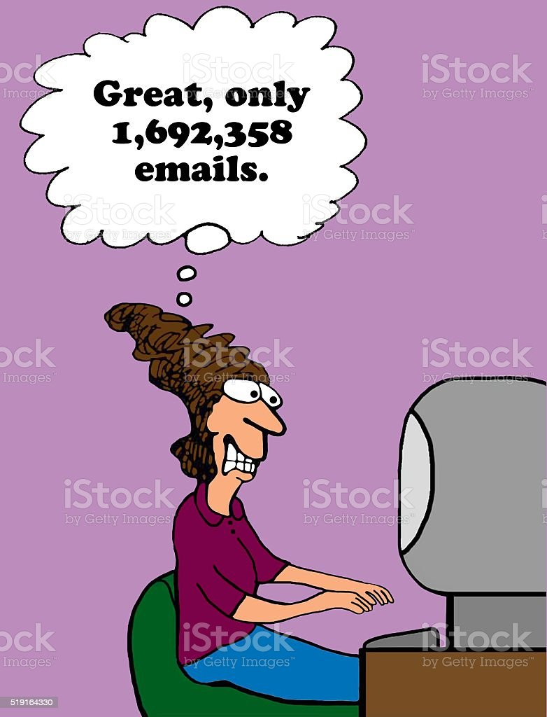 Too Many Emails stock photo