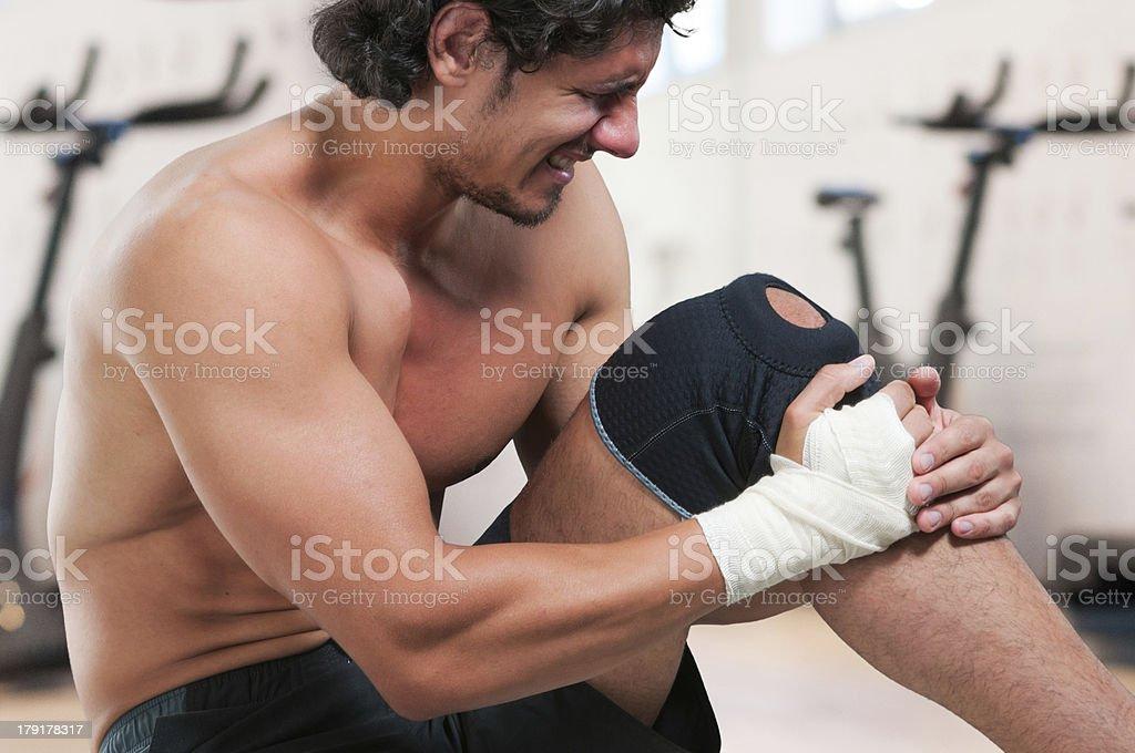Too many injuries royalty-free stock photo