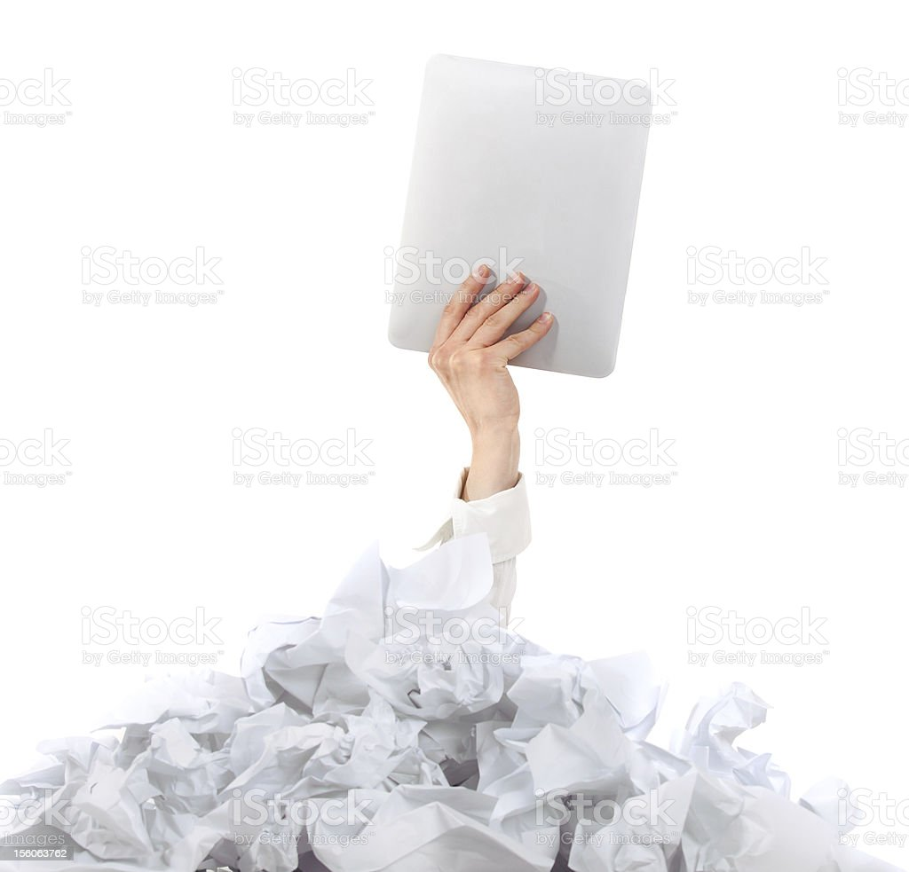 Too many paper work. Concept royalty-free stock photo