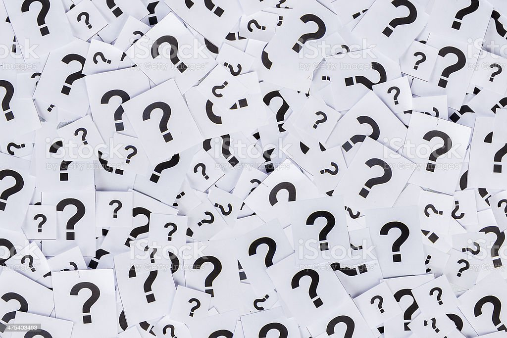 Too many question marks royalty-free stock photo