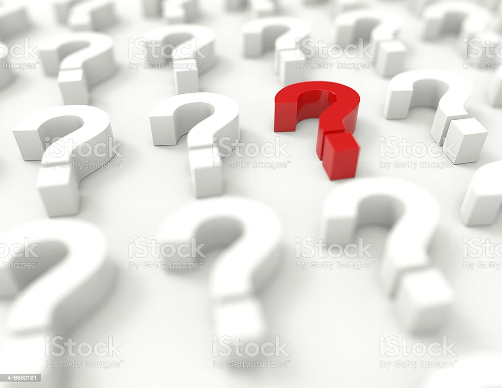 Too Many Questions ? stock photo