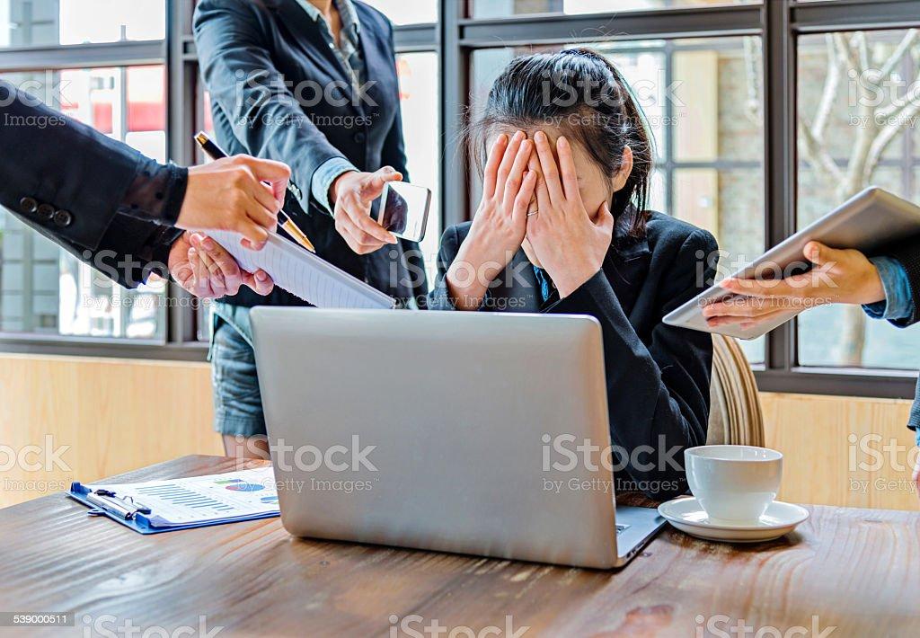 too many tasks stock photo