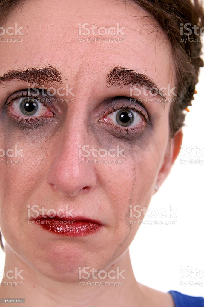 Too many tears. stock photo