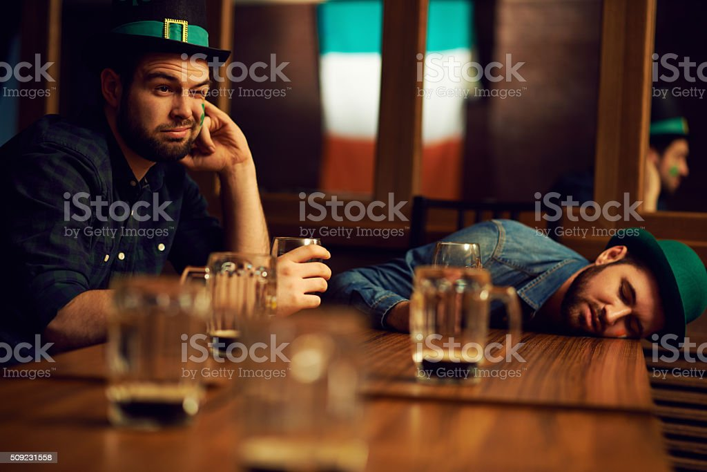 Too much beer stock photo