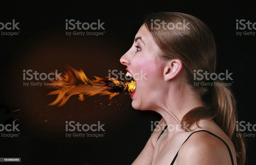 Too Much Chili Pepper royalty-free stock photo