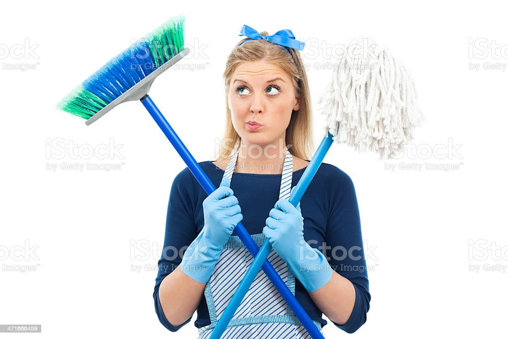 Too much cleaning royalty-free stock photo