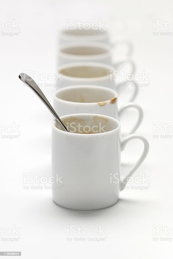 Too much coffee royalty-free stock photo