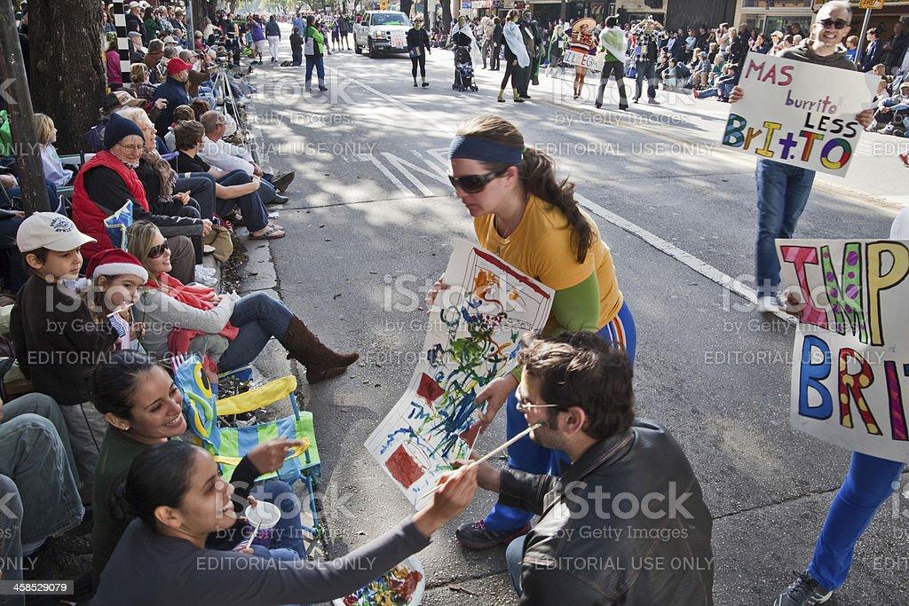 Too much exposure for the artist Romero Britto satire stock photo