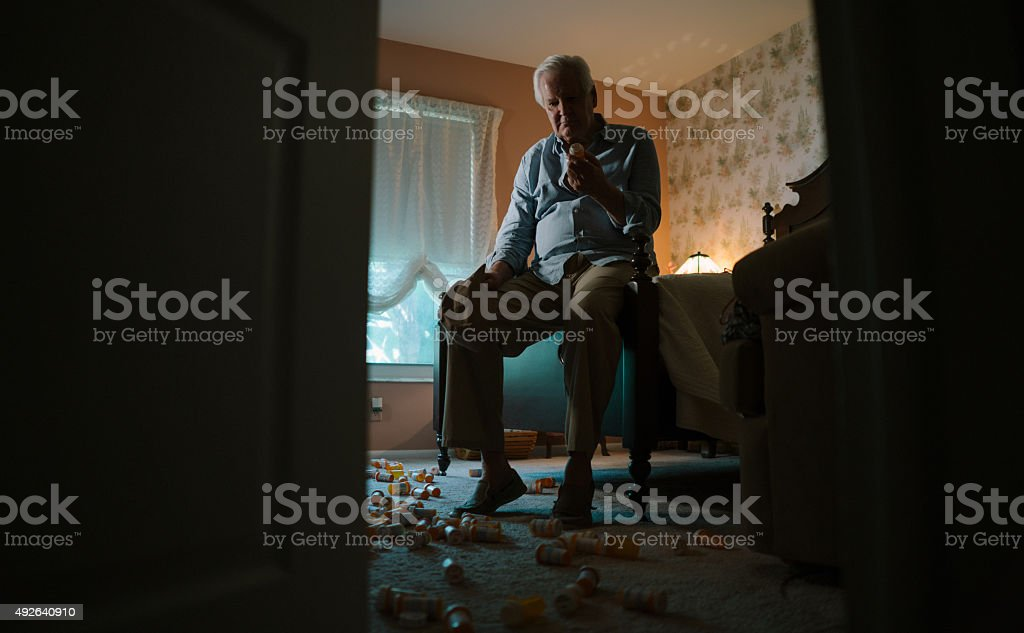 Too much medicine stock photo