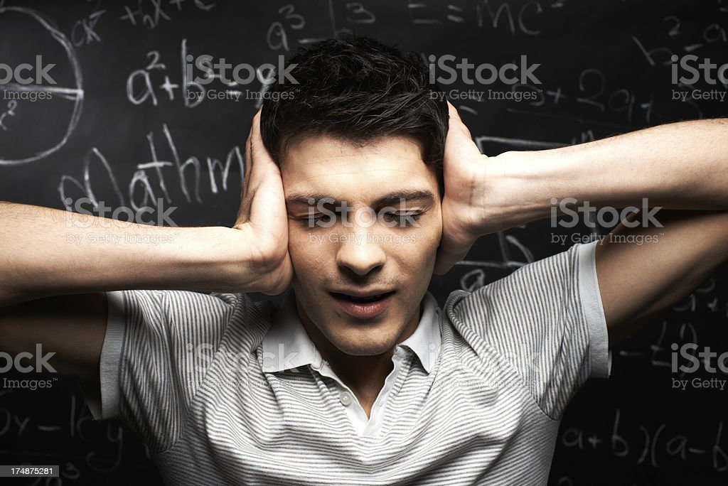 Too much noise royalty-free stock photo