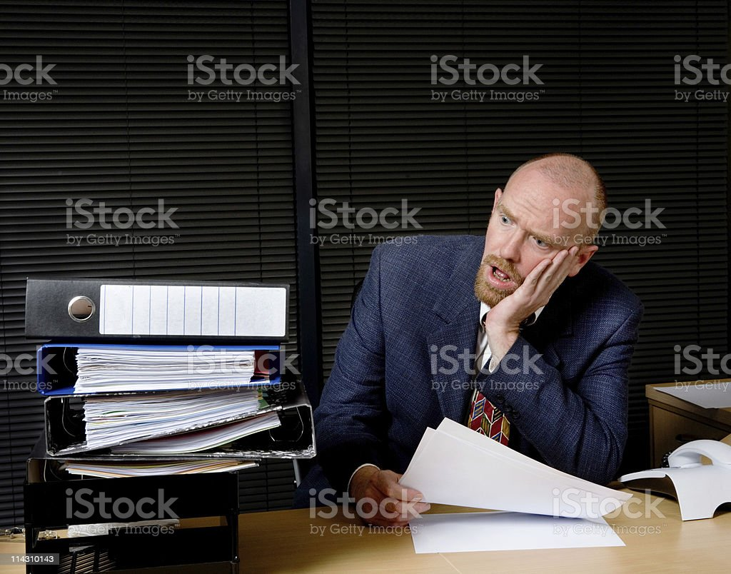 Too much paperwork! royalty-free stock photo