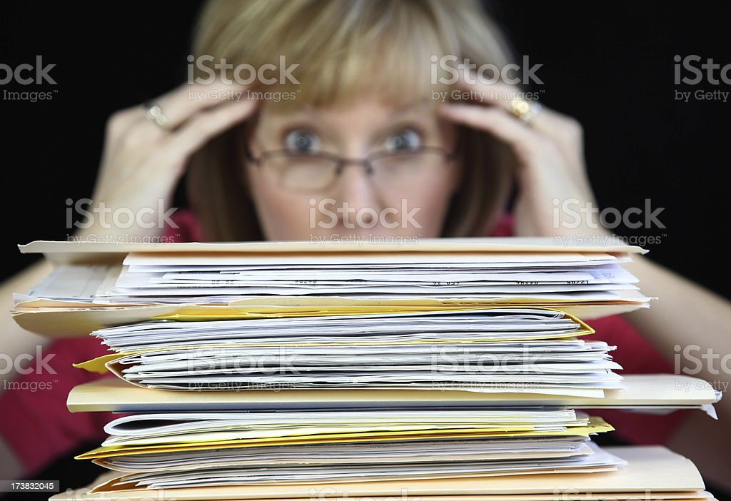 Too Much Paperwork royalty-free stock photo