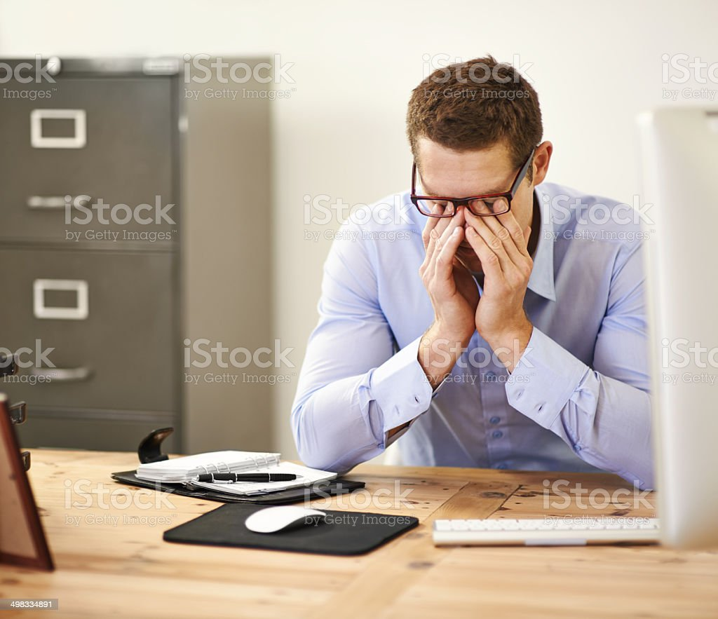 Too much! stock photo