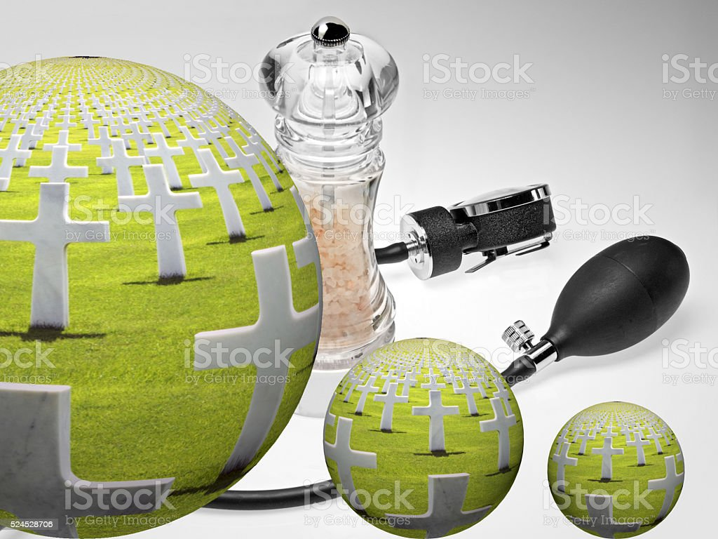 too much salt is bad for pressure stock photo
