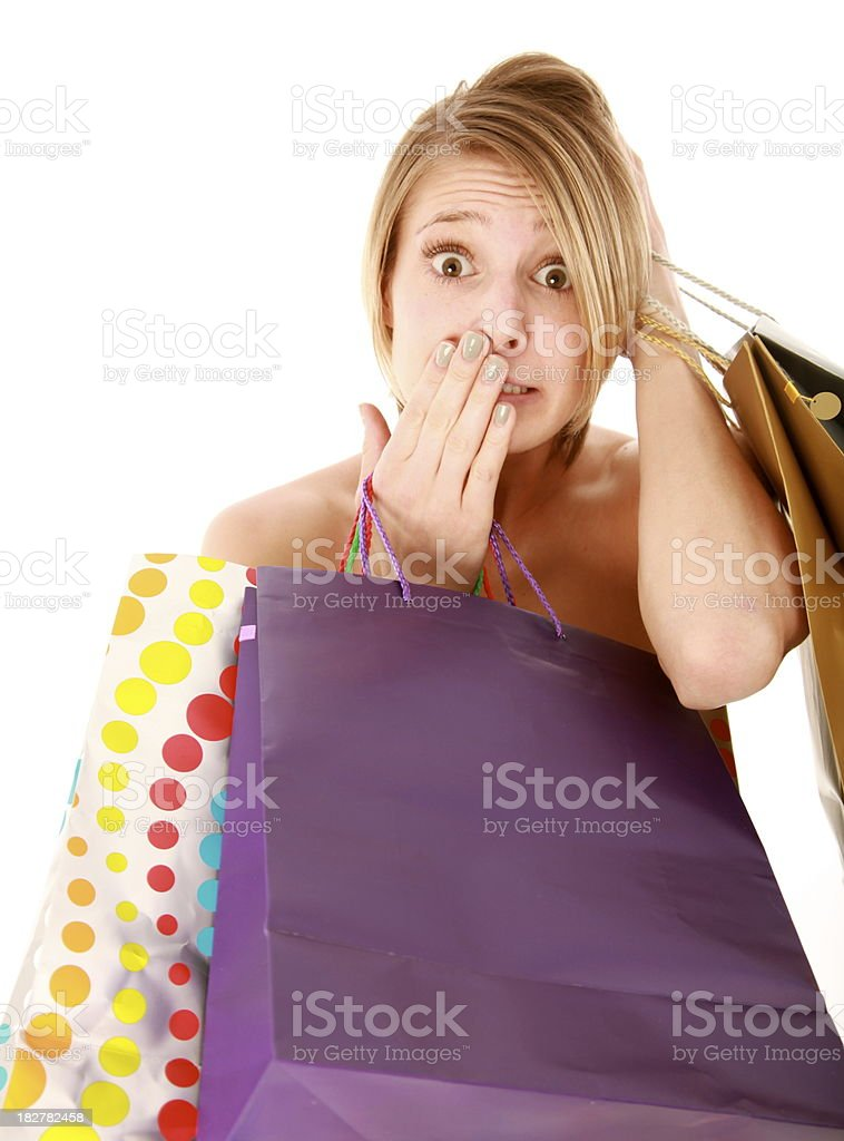 Demasiado de compras foto de stock libre de derechos