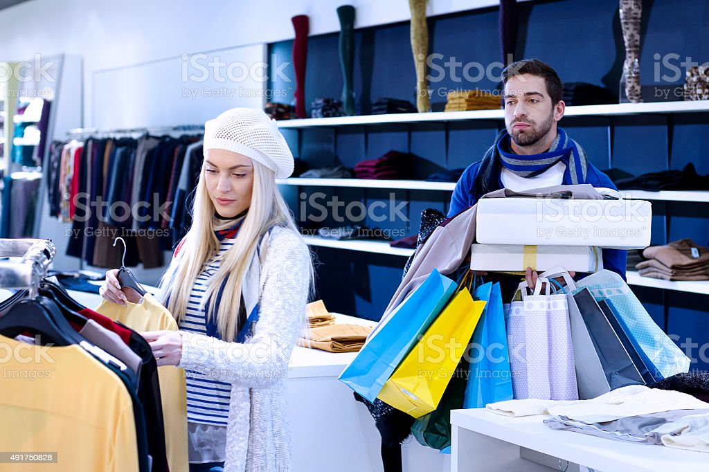 Too much shopping stock photo