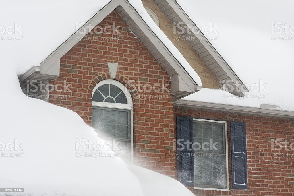 Too Much Snow Drifting royalty-free stock photo