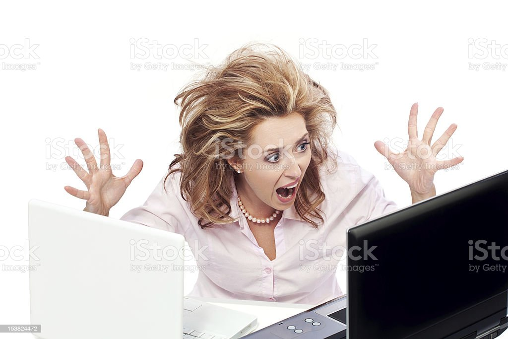 Too much stress and work stock photo