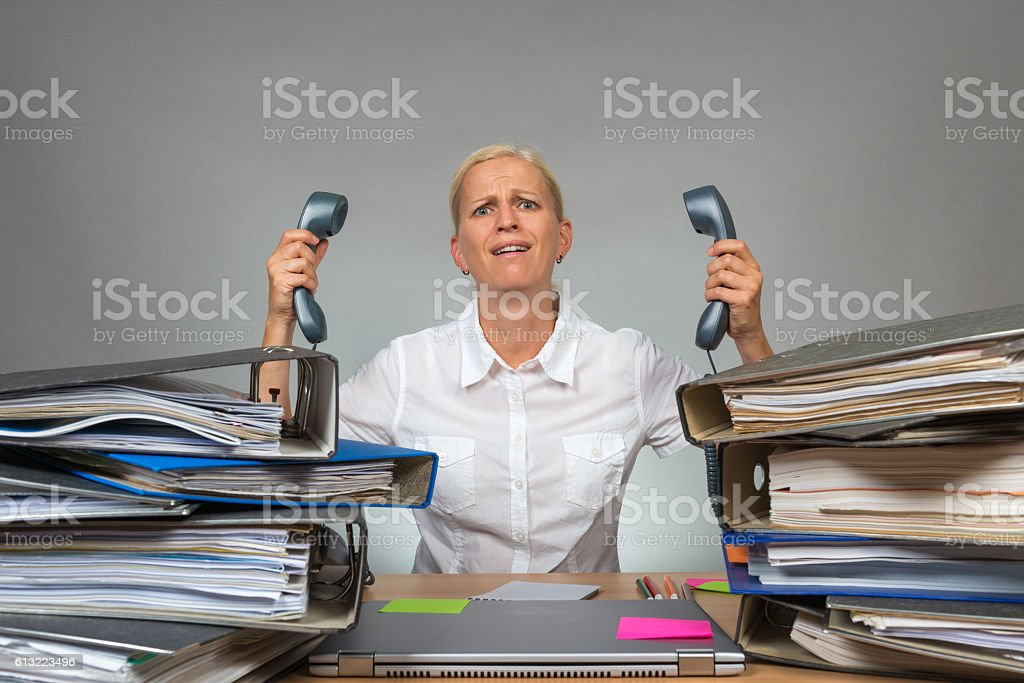 too much stress in office stock photo