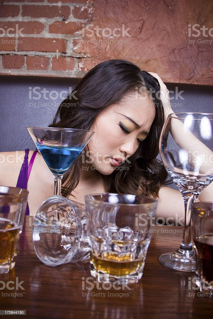 Too much to drink royalty-free stock photo