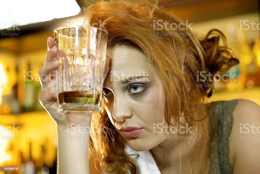 Too much to drink stock photo