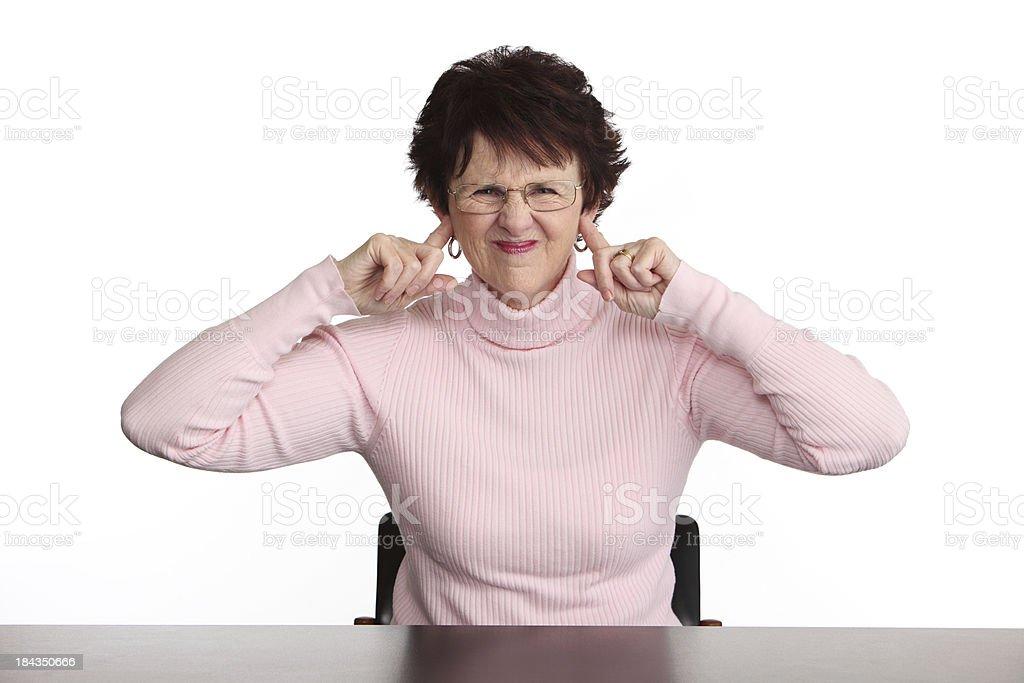 Too Noisy! stock photo