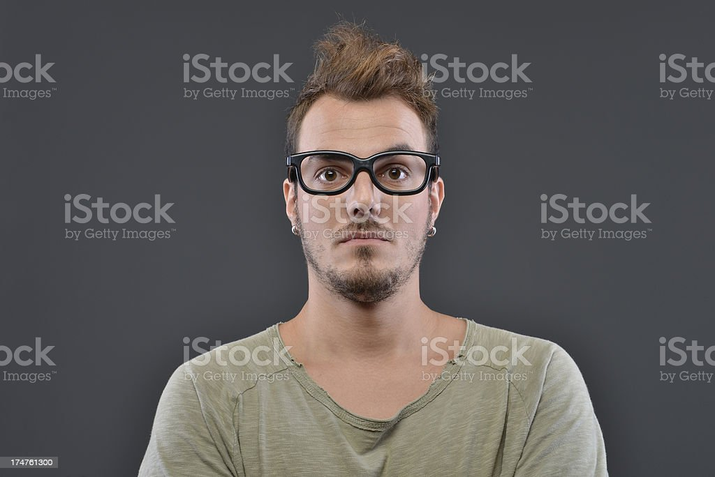 too serious royalty-free stock photo
