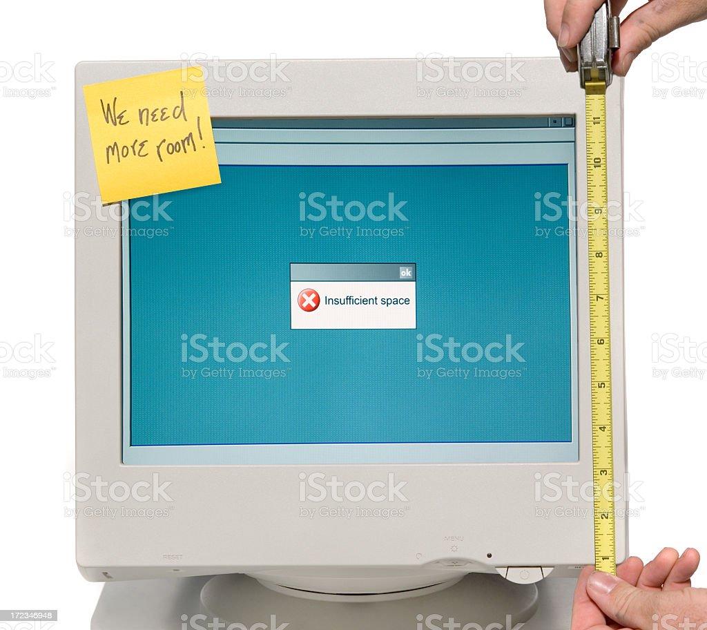 Too Small Computer Display royalty-free stock photo