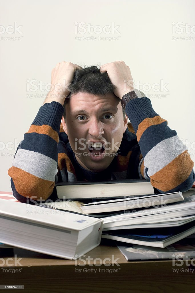 Too stressed royalty-free stock photo