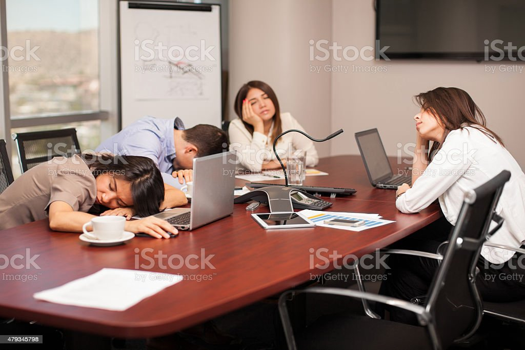 Too tired for work stock photo
