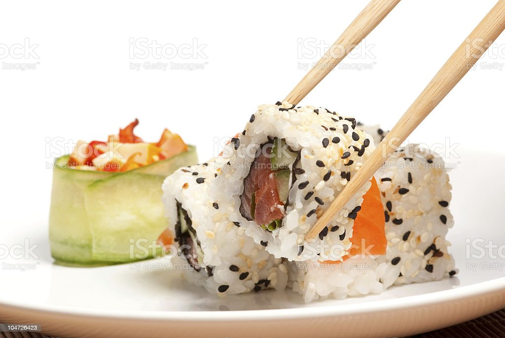 Took a sushi royalty-free stock photo
