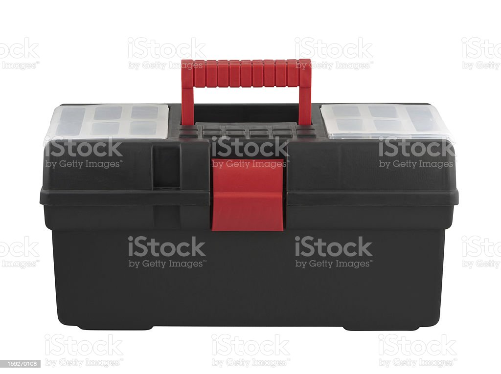 Tool box with handle royalty-free stock photo