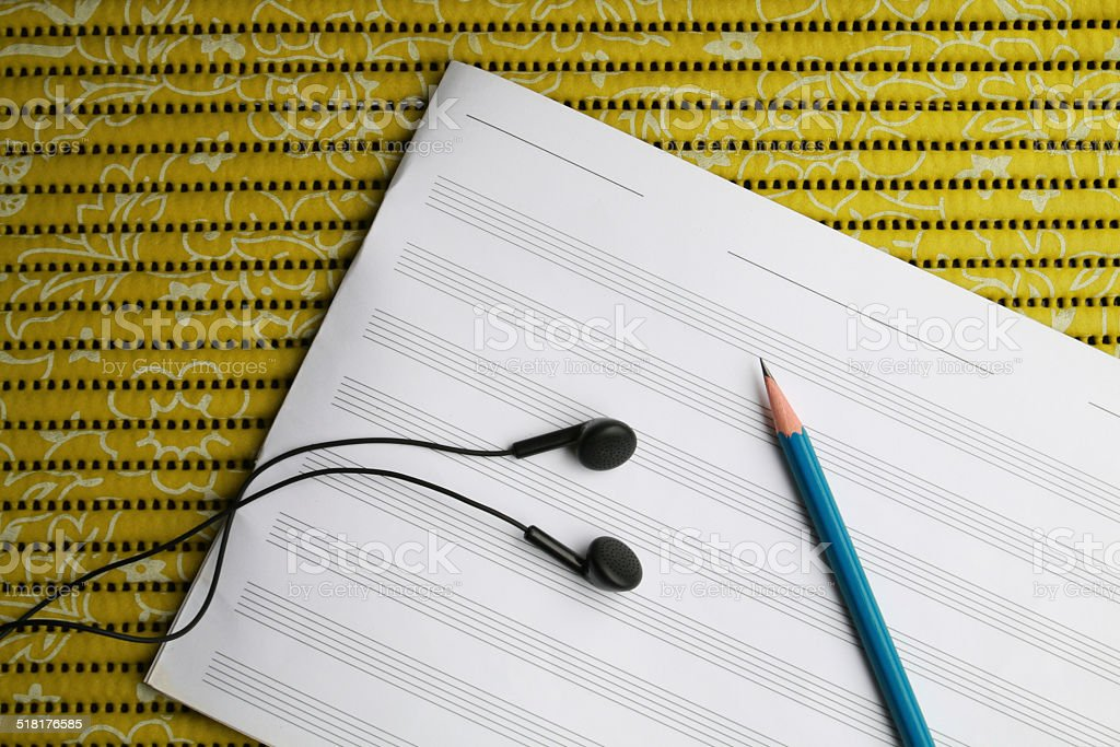 tool for writing music stock photo