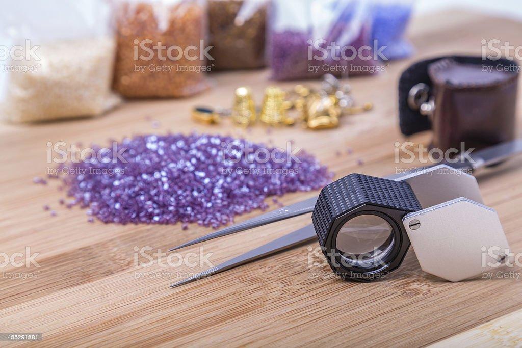 tool gemologist stock photo