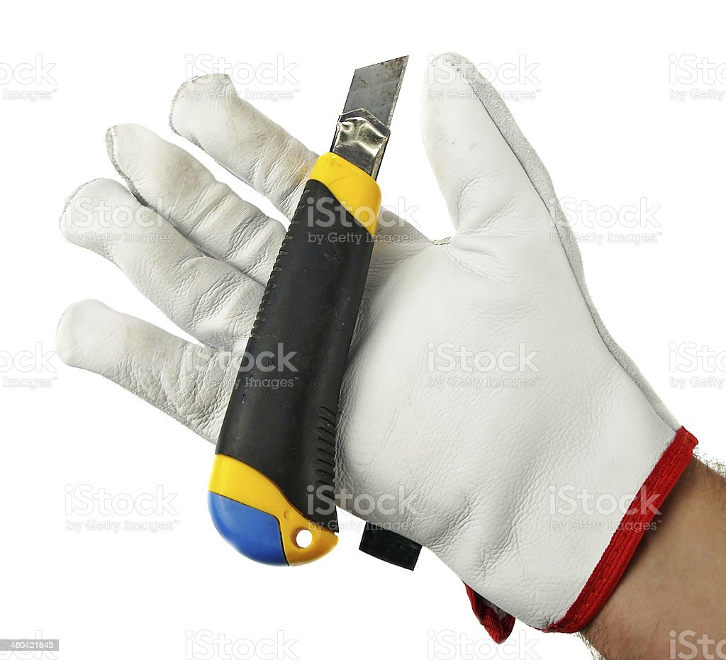 tool in hand stock photo