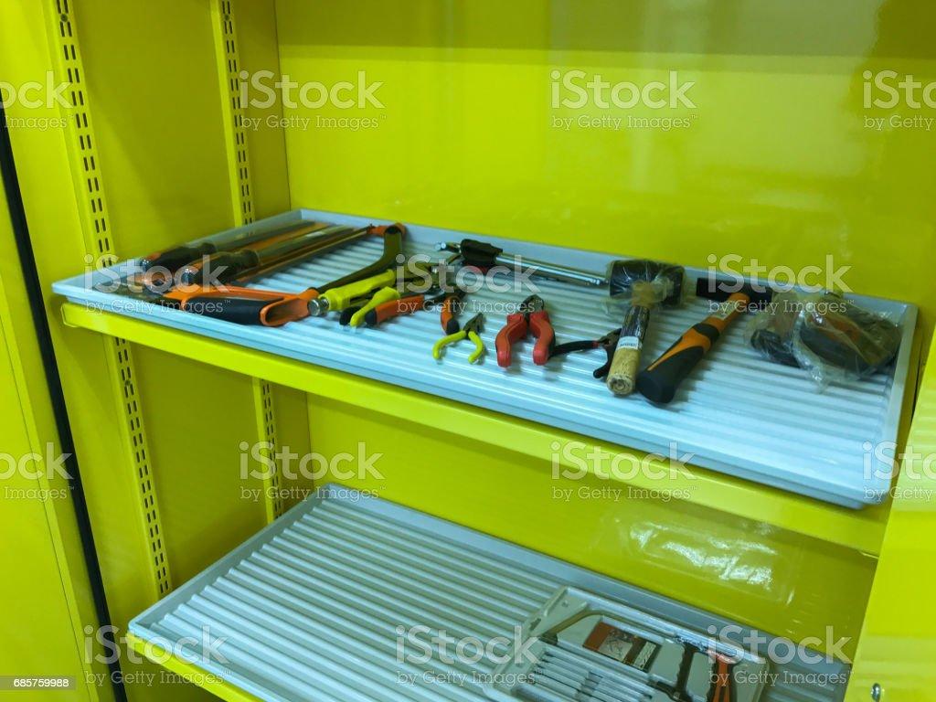 tool in rack stock photo