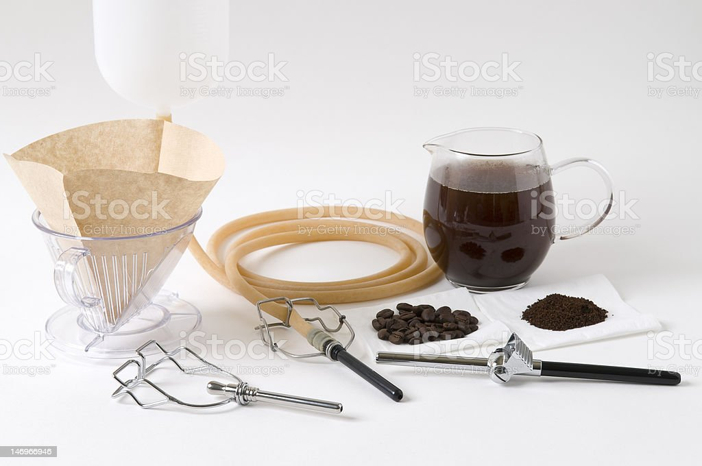 Tool kit for Coffee Enema royalty-free stock photo