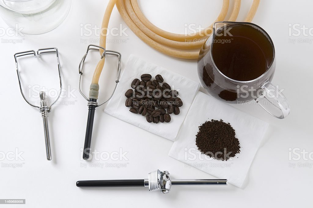 Tool kit for Coffee Enema stock photo