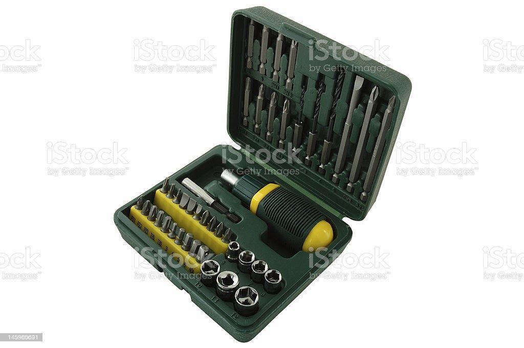 Tool kit. royalty-free stock photo