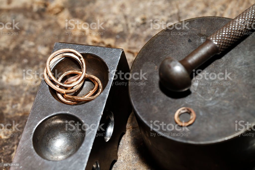 Tool master jeweler closeup stock photo