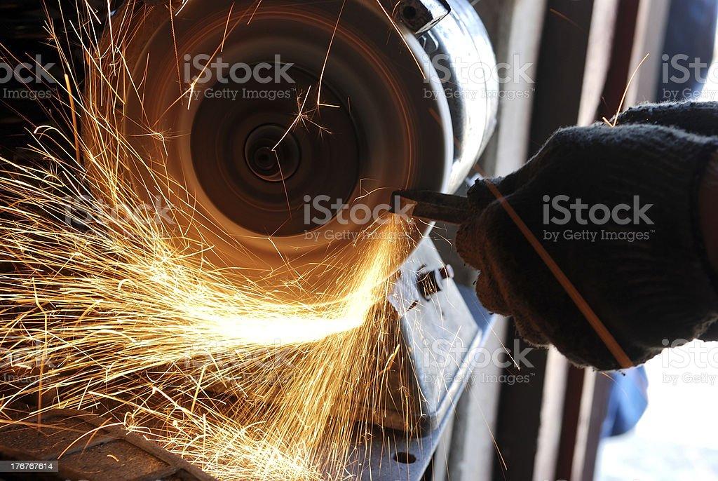 Tool Sharpening stock photo
