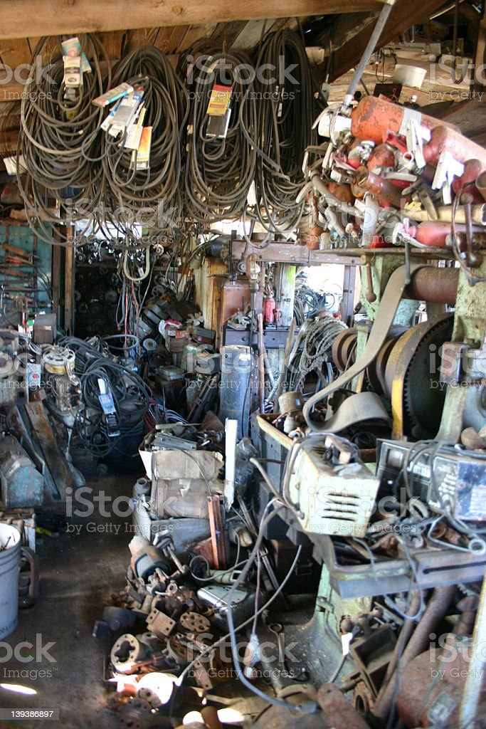 Tool Shed royalty-free stock photo