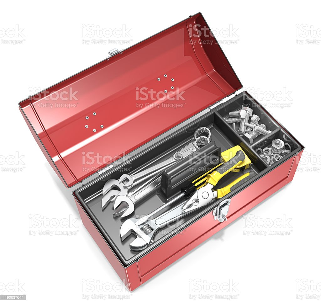 Toolbox and tools. stock photo