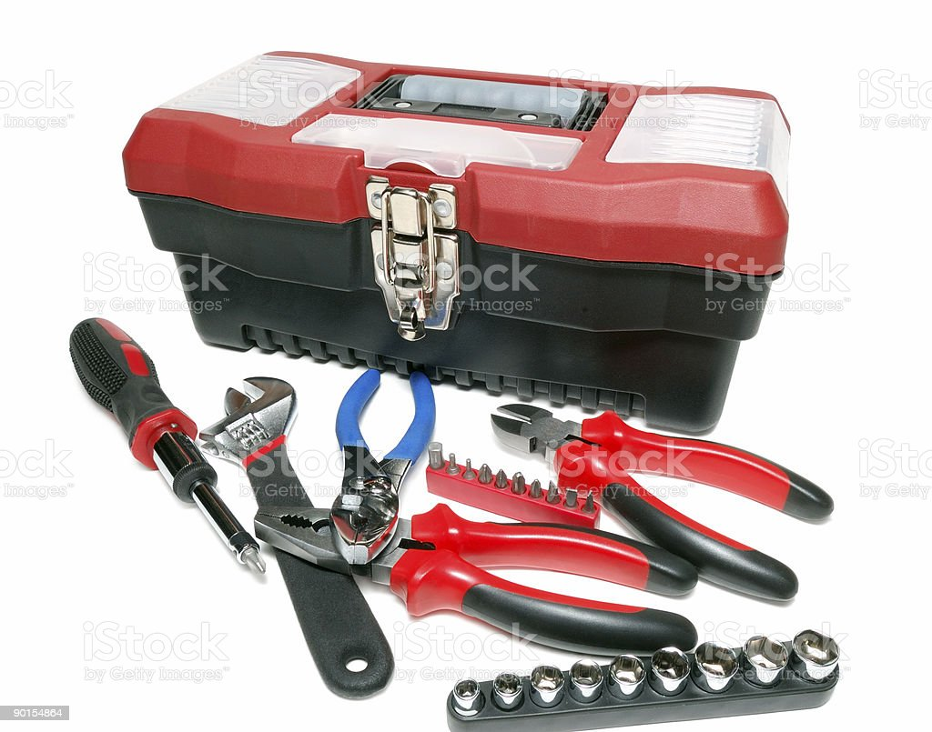 Toolbox isolated over a white background royalty-free stock photo